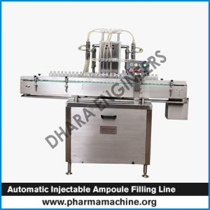 automatic injectable ampoule filling line